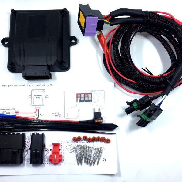 BATTEK 8-Switch Panel Power System 12V 50A Bluetooth iPhone Control